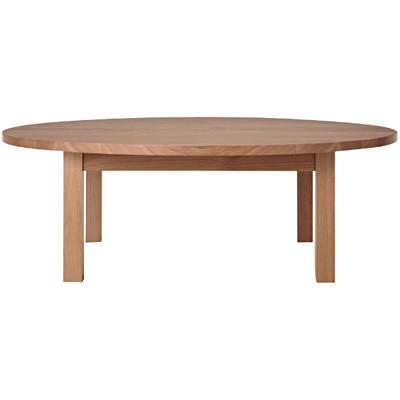 木製ローテーブル・丸・タモ材/ナチュラル