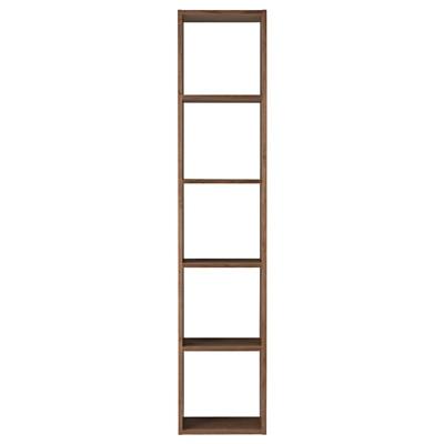 スタッキングシェルフ・5段・ウォールナット材 幅42×奥行28.5×高さ200cm
