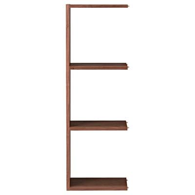 スタッキングシェルフ・追加3段・ウォールナット材 幅40×奥行28.5×高さ121cm