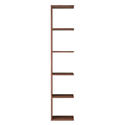 スタッキングシェルフ・追加5段・ウォールナット材 幅40×奥行28.5×高さ200cm