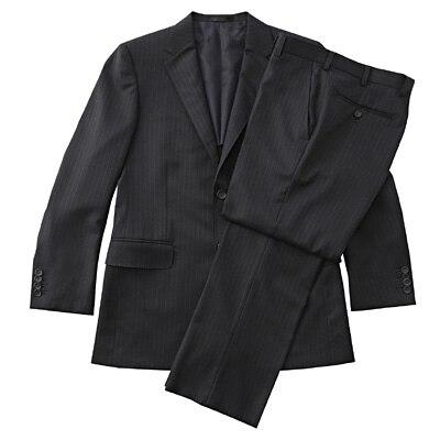 【店舗限定】日本の技術ウールストライプスーツ 紳士S・ネイビー