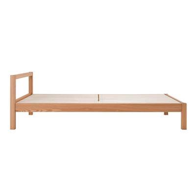 木製ベッド・シングル・タモ材/ナチュラル・無垢脚