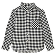 Flannel Shirt Blk Kids 110