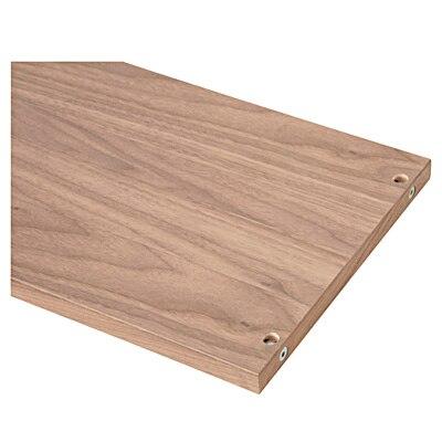 【パーツ】スタッキングシェルフウォールナット3段用側板(天板仕様) ウォールナット3段用側板天板仕様