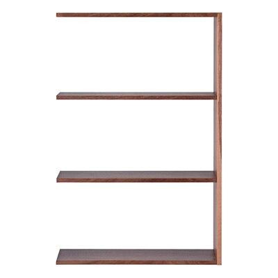 スタッキングシェルフ・ワイド・追加3段・ウォールナット材 幅79.5×奥行28.5×高さ121cm