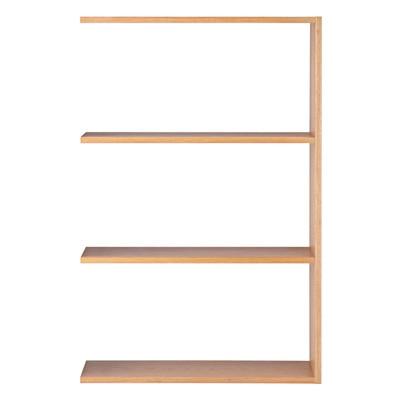 スタッキングシェルフ・ワイド・追加3段・オーク材 幅79.5×奥行28.5×高さ121cm