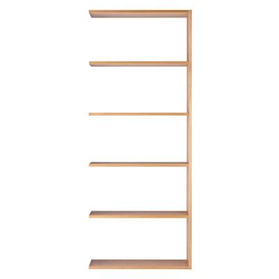 スタッキングシェルフ・ワイド・追加5段・オーク材 幅79.5×奥行28.5×高さ200cm
