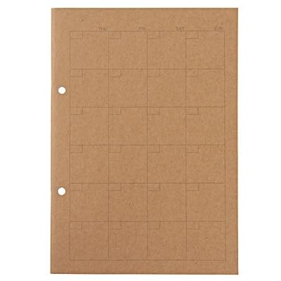 植林木ペーパー 組み合わせて使えるノート/A5・32枚・マンスリースケジュール