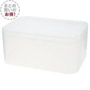 【まとめ買い】ポリプロピレンメイクボックス・蓋付・大/6個セットの写真
