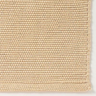 綿落ちワタ入りインド綿手織マット/ベージュ/50×80cm