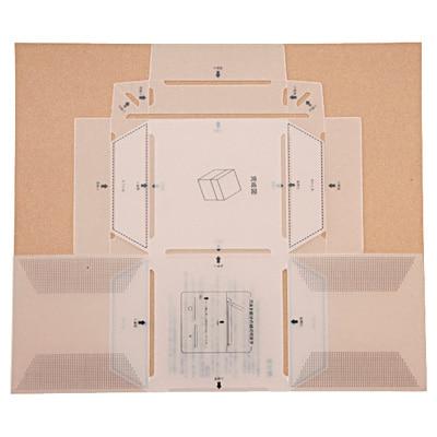 自分で作れる フタ付ボックステンプレート/仕上サイズ:約90×90×90mm