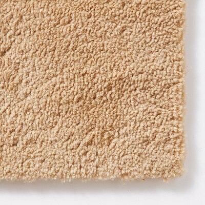 羊の毛タッチのマット/ライトベージュ/50×80cm