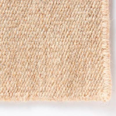 ウール原毛色平織マット/ベージュ/50×80cm