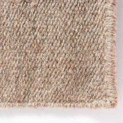 ウール原毛色平織マット/グレー/50×80cm