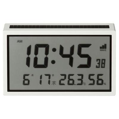 ソーラー電波デジタルクロック(温湿度計・カレンダー機能付)