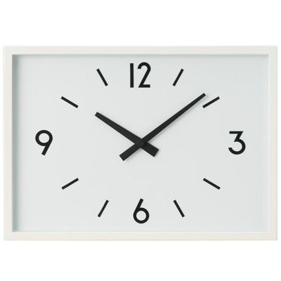 駅の時計・電波ウォールクロック・アイボリー 掛時計(収納スタンド付)