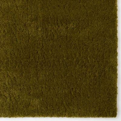 羊の毛タッチのマット/カーキ/50×80cm
