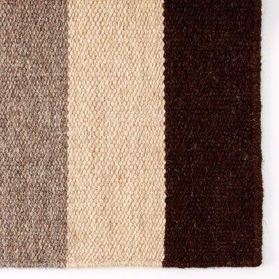 ウール原毛色平織マット/ボーダー/50×80cm