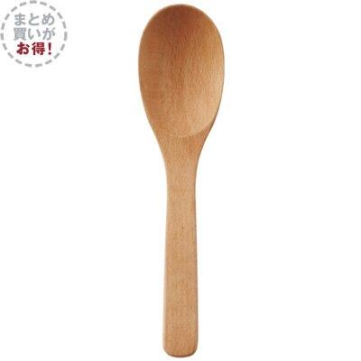 【まとめ買い】木製 スープスプーン 6本セット