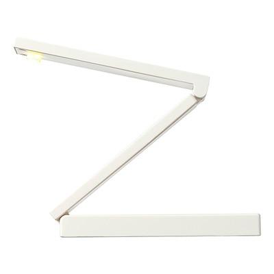 持ち運びに便利な折りたたみ式のライトです。AC電源と電池の両方でご使用いただけます。