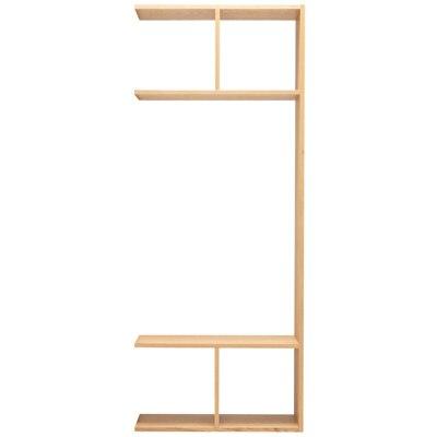 スタッキングシェルフ5段用2列オープン型追加セット/オーク材 幅80×奥行28.5×高さ200cm