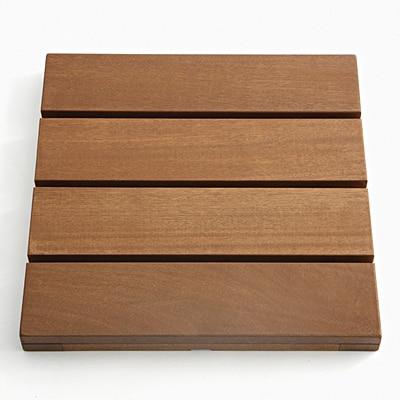 【店舗限定】デッキパネル 天然木:バラウ材 40×40×3.6cm