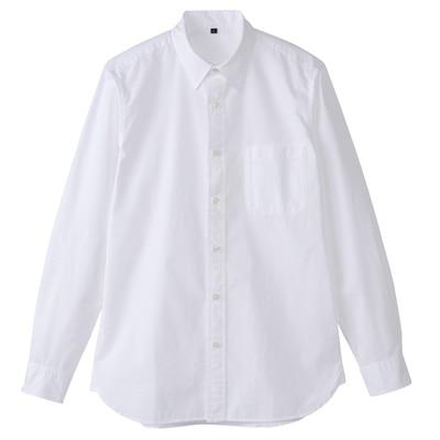 オーガニックコットンブロード洗いざらしシャツ(イージータイプ) 紳士XS・白