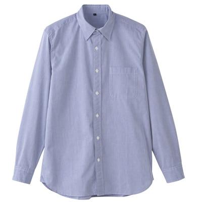 オーガニックコットンブロード洗いざらしシャツ(イージータイプ) 紳士XL・ネイビー