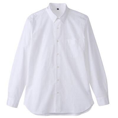 オーガニックコットンブロードシャツ(レギュラータイプ) 紳士M・白