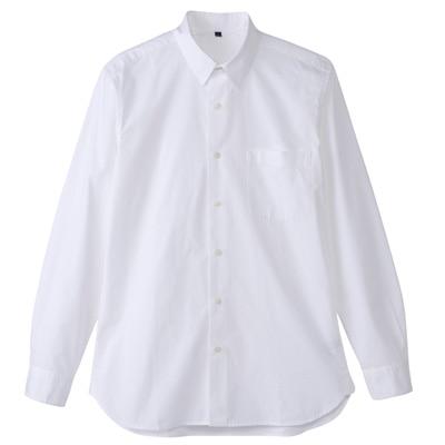 オーガニックコットンブロードシャツ(レギュラータイプ) 紳士L・白