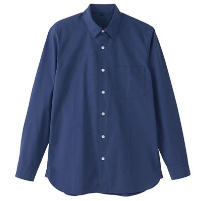 オーガニックコットンブロードシャツ(レギュラータイプ) 紳士S・スモーキーブルー