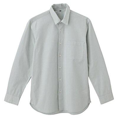 オーガニックコットンブロードシャツ(レギュラータイプ) 紳士S・ライトグリーン