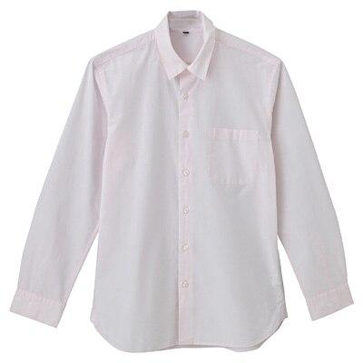 オーガニックコットンブロードシャツ(レギュラータイプ) 紳士S・ライトピンク