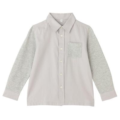 カットソー使い切り替えシャツ トドラー120・グレー
