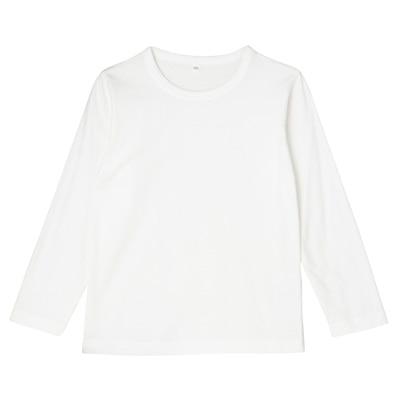 毎日のこども服長袖Tシャツ トドラー110・オフ白