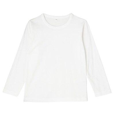 毎日のこども服長袖Tシャツ トドラー130・オフ白
