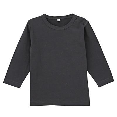 毎日のこども服長袖Tシャツ ベビー100・チャコールグレー