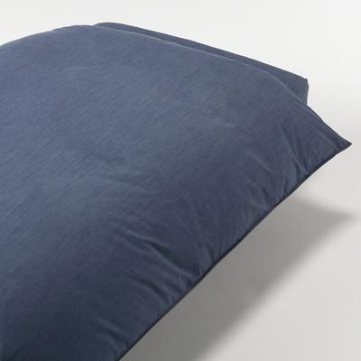 綿デニム掛ふとんカバー・D/ブルー 190×210cm用
