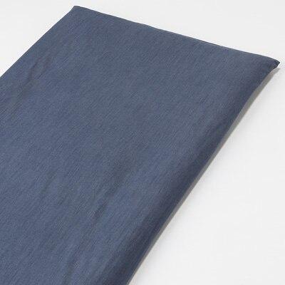 綿デニム敷ふとんシーツ・ゴム付き・S/ブルー 100×210cm用