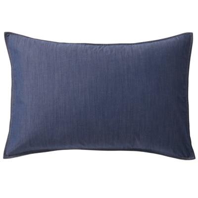 綿デニムまくらカバー/ブルー 43×63cm用