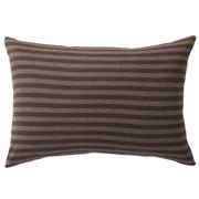 Organic Cotton Jersey Pillow Case 50 Brown Border