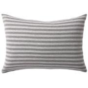 Organic Cotton Jersey Pillow Case 43 Gray Border