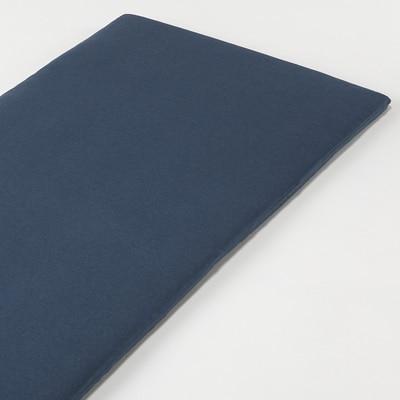 オーガニックコットン天竺ボックスシーツ・マットレス薄型スモール用/杢ネイビー 80×195×7cm用