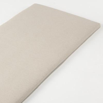 オーガニックコットン天竺ボックスシーツ・マットレス薄型スモール用/杢ベージュ 80×195×7cm用