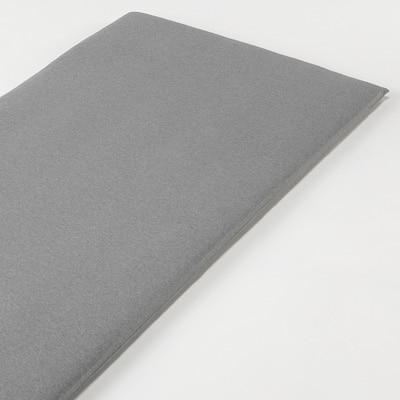 オーガニックコットン天竺ボックスシーツ・マットレス薄型スモール用/杢グレー 80×195×7cm用