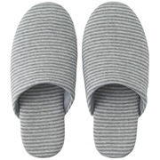 *ct Jersey Cushion Slipper M Gry Border A16