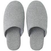 *ct Jersey Cushion Slipper L Gry Border A16