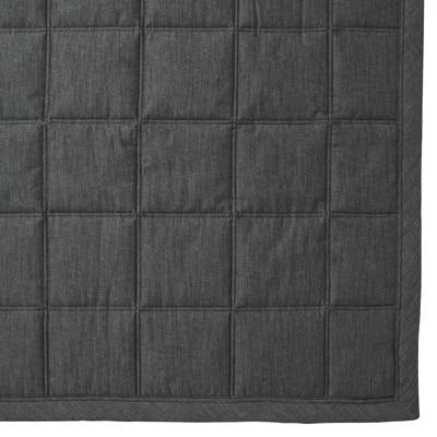 綿デニムキルティングラグ/ネイビー 140×195cm