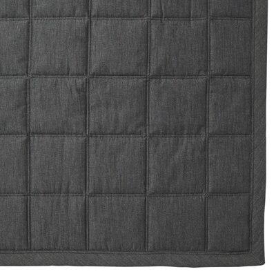 綿デニムキルティングラグ/ネイビー こたつ下敷兼用・205×245cm