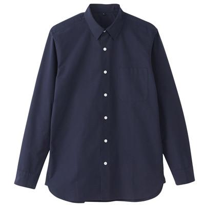 オーガニックコットンブロードシャツ(レギュラータイプ) 紳士S・ネイビー